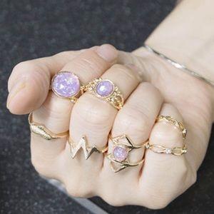 7 Piece Ring Set